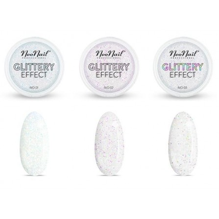 Glittery Effect NeoNail Efekt Kopciuszka Pyłek