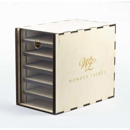 Lash Box Drewniany Mały - Wonder Lashes