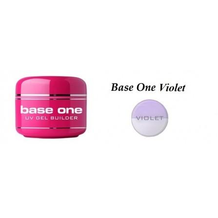 Silcare Żel Hybrydowy Budujący Base One Violet 50 g
