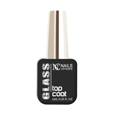 Nails Company Glass Top Coat  z warstwą dyspersyjną 6ml - top nabłyszczający