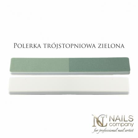 Nails Company Polerka trójstopniowa zielona - komplet 10szt.