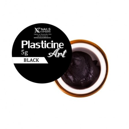 Nails Company Plasticine Art BLACK - plastelina do zdobień 5g