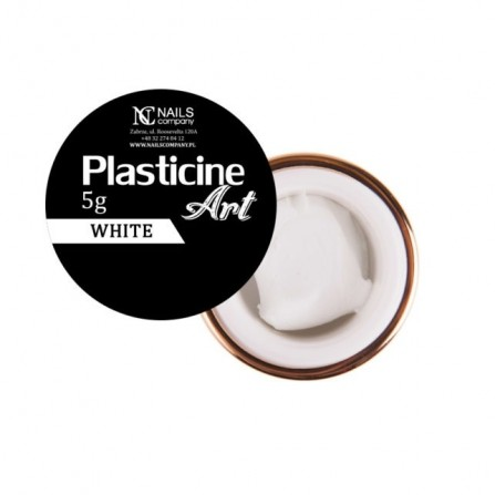 Nails Company Plasticine Art WHITE 5g  - plastelina do zdobień 5g