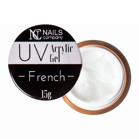 Nails Company FRENCH WHITE akrylożel polygel 15g acrylic gel NOWOŚĆ