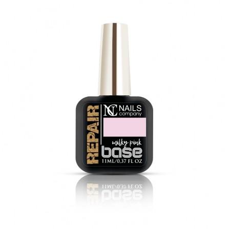 Nails Company Repair Base MILKY PINK 11ml - baza budująca do przedłużania paznokci