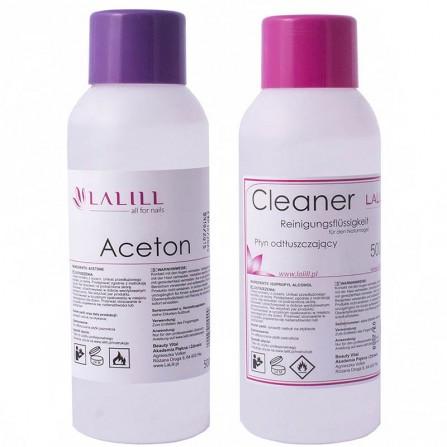 Zestaw Aceton + Cleaner Do Paznokci La Lill 2x500ml