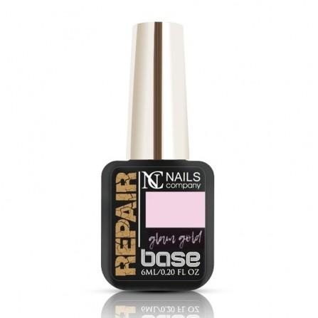 Nails Company Repair Base MILKY PINK Glam Gold 6ml
