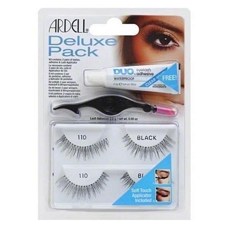 Ardell Deluxe Pack 110 BLACK Zestaw+Klej Aplikator