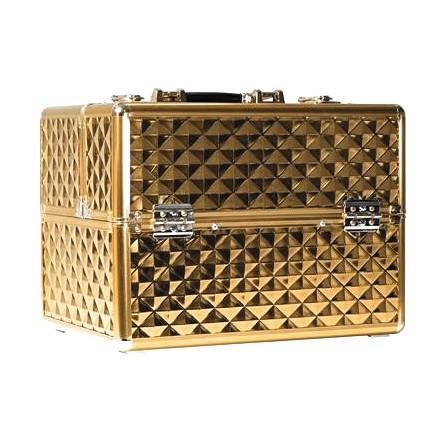 Kuferek Kosmetyczny Na Kosmetyki Złoty Gold