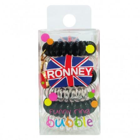 Ronney Gumki Do Włosów Funny Ring Stonowane 6szt