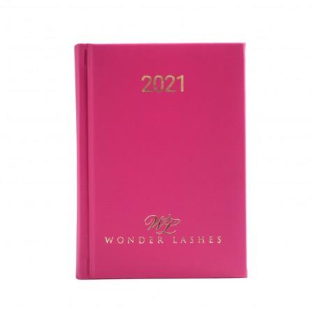 Wonder Lashes Kalendarz 2021 Dzienny - Fuksja