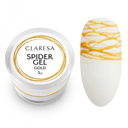 Claresa Spider Gel Do Zdobień Gold 5g